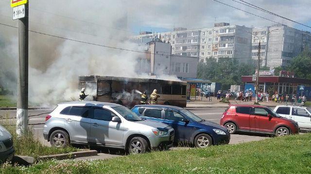 Во Владимире опять сгорел рейсовый автобус