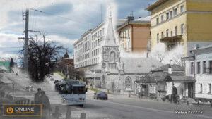 Улица Дворянская (вид от стадиона Торпедо)